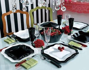 Сервиз столовый Luminarc AUTHENTIC black-white 19 предметов от Podushka