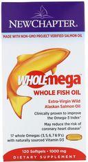 Жирные кислоты New Chapter Wholemega омега из рыбьего жира 1000 мг 120 желатиновых капсул (727783050038) от Rozetka