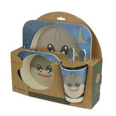 Набор детской бамбуковой посуды Elite lux Акула 5 предметов (H0053-0012) от Rozetka