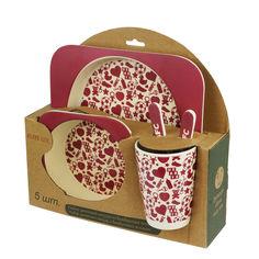 Набор детской бамбуковой посуды Elite lux Сердца 5 предметов (H0053-0002) от Rozetka