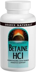 Аминокислота Source Naturals Бетаин HCL 650 мг 90 таблеток (21078013617) от Rozetka