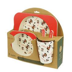 Набор детской бамбуковой посуды Elite lux Футбол 5 предметов (H0053-0008) от Rozetka
