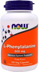 Аминокислота Now Foods L-Фенилаланин 500 мг 120 капсул (733739001320) от Rozetka