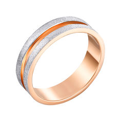 Акция на Золотое обручальное кольцо с гранжевой поверхностью, 5,5мм 000117427 000117427 22.5 размера от Zlato