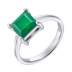 Серебряное кольцо с агатом 000125019 000125019 17.5 размера от Zlato