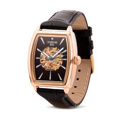 Часы наручные из красного золота с механизмом скелетом 000134574 000134574 от Zlato