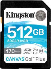Акция на Kingston SDXC 512GB Canvas Go! Plus Class 10 UHS-I U3 V30 (SDG3/512GB) от Rozetka