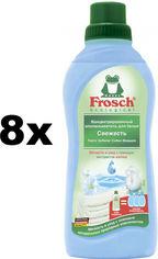 Акция на Упаковка кондиционера-ополаскивателя Frosch Свежесть 750 мл х 8 шт (4009175092830) от Rozetka