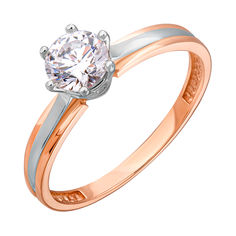 Золотое кольцо с цирконием Swarovski 000036705 000036705 19 размера от Zlato