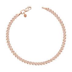 Золотой браслет Нонна с алмазной гранью, 2,5 мм 000095121 18.5 размера от Zlato