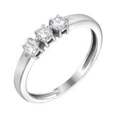 Кольцо в белом золоте Марианна с фианитами 000097283 16.5 размера от Zlato
