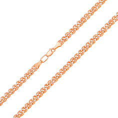 Цепочка из красного золота с алмазной гранью 000101561 000101561 55 размера от Zlato
