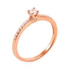 Золотое помолвочное кольцо Leda с фианитами 000101698 15.5 размера от Zlato