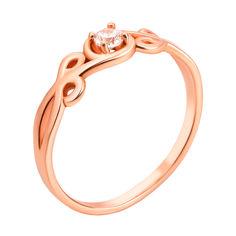Кольцо из красного золота Эстель с фианитом 000103799 16 размера от Zlato