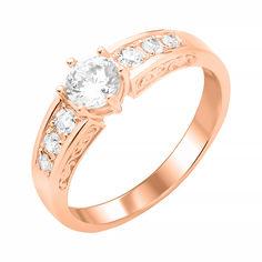 Кольцо из красного золота Гретель с фианитами 000103792 17.5 размера от Zlato