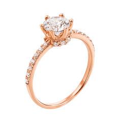 Кольцо из красного золота с фианитами 000103791 000103791 17.5 размера от Zlato