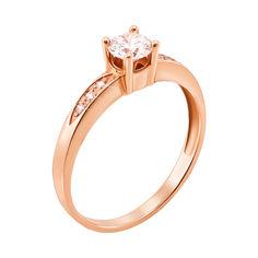 Кольцо из красного золота с фианитами 000103739 000103739 15 размера от Zlato