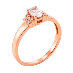 Кольцо из красного золота с фианитами 000103794 000103794 16.5 размера от Zlato