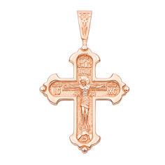 Крестик из красного золота Свет молитвы 000103805 000103805 от Zlato