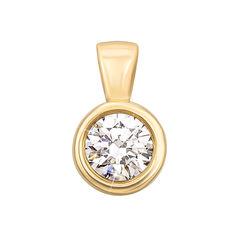 Кулон из желтого золота с фианитом 000104251 000104251 от Zlato