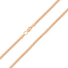 Цепь из красного золота Малазия в плетении двойной якорь 000104312 55 размера от Zlato