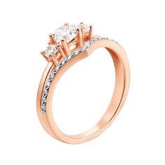 Кольцо из красного золота с фианитами 000104492 000104492 17.5 размера от Zlato
