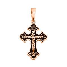 Акция на Православный крестик из красного золота с чернением 000129743 000129743 от Zlato
