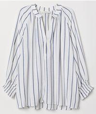 Блузка H&M L.O.G.G. 0657149 42 Белая (2000008206983) от Rozetka