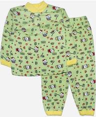 Пижама (Футболка с длинными рукавами + штаны) Малыш Style Кися ПЖ-02 60 р 110-116 см Салатовая (ROZ6400011685) от Rozetka
