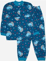 Пижама (Футболка с длинными рукавами + штаны) Малыш Style Волна ПЖ-02 56 р 98-104 см Морская (ROZ6400011681) от Rozetka