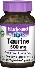Аминокислота Bluebonnet Nutrition Таурин 500 мг 50 гелевых капсул (743715000841) от Rozetka