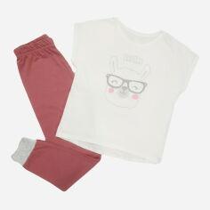 Акция на Пижама (футболка + штаны) Кена 307337-01 134 см Молочная (2307337011340) от Rozetka