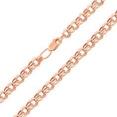 Акция на Цепь из красного золота плетения бисмарк с алмазной гранью 000101560, 3,5мм  50 размера от Zlato
