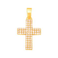 Акция на Декоративный крестик из желтого золота с фианитами 000130937 000130937 от Zlato