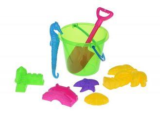 Набор для игры с песком Same Toy Ведерко 8 едениц зеленое (HY-1204WUt-3) от MOYO