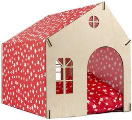 Домик-лежак Фортнокс FX Home для котов и собак 50х40х46 см каркасный с мягкой подушкой Красный (2820000011749) от Rozetka