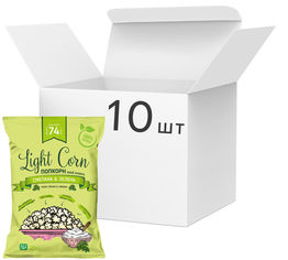 Упаковка попкорна Light Corn Сметана и Зелень 20 г х 10 шт (4820237290038) от Rozetka