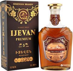 Коньяк Ijevan Иджеван Премиум 5 лет выдержки 0.5 л 40% в коробке (4850001032083) от Rozetka