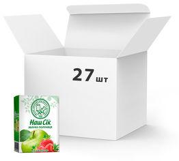 Упаковка сока ОКЗДП Наш Сок Яблочно-клубничный 0.2 л х 27 шт (4820003680872) от Rozetka