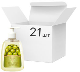 Упаковка жидкого крем-мыла Relax с экстрактом оливы 300 мл х 21 шт (4820174691264_1) от Rozetka