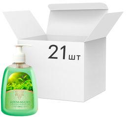 Упаковка жидкого крем-мыла Relax с экстрактом зеленого чая и маслом ромашки 300 мл х 21 шт (4820174691226_1) от Rozetka