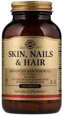Акция на Solgar Skin, Nails & Hair, Advanced Msm Formula, 120 Tabs Витамины для волос, кожи и ногтей от Stylus