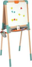 Двусторонний деревянный мольберт Smoby Toys Веселая учеба 50х55х120 см (410400) от Rozetka