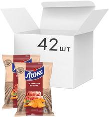 Упаковка чипсов Люкс со вкусом бекона 71 г x 42 шт (7622210234711) от Rozetka