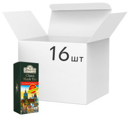 Упаковка чая черного пакетированного Ahmad Tea Классический 16 пачек по 25 х 2 г (54881111188) от Rozetka