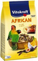 Акция на Повседневный корм для неразлучников и других маленьких африканских попугаев Vitakraft African 750 г (4008239216410) от Rozetka