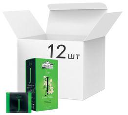 Упаковка чая зеленого пакетированного Ahmad Tea Жасмин Дилайт 12 шт по 20 пакетиков (0054881119788) от Rozetka