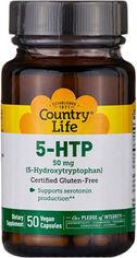 Аминокислоты Country Life 5-HTP 50 капсул (01579401650) от Rozetka