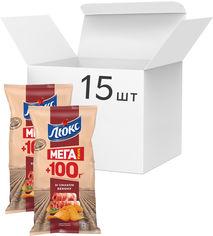 Упаковка чипсов Люкс со вкусом бекона 233 г x 15 шт (7622210234650) от Rozetka