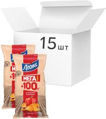 Упаковка чипсов Люкс со вкусом паприки 233 г x 15 шт (7622210234667) от Rozetka